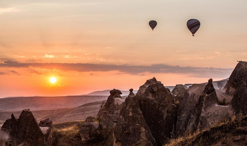 卡帕多西亚热气球。摄影:孟菁