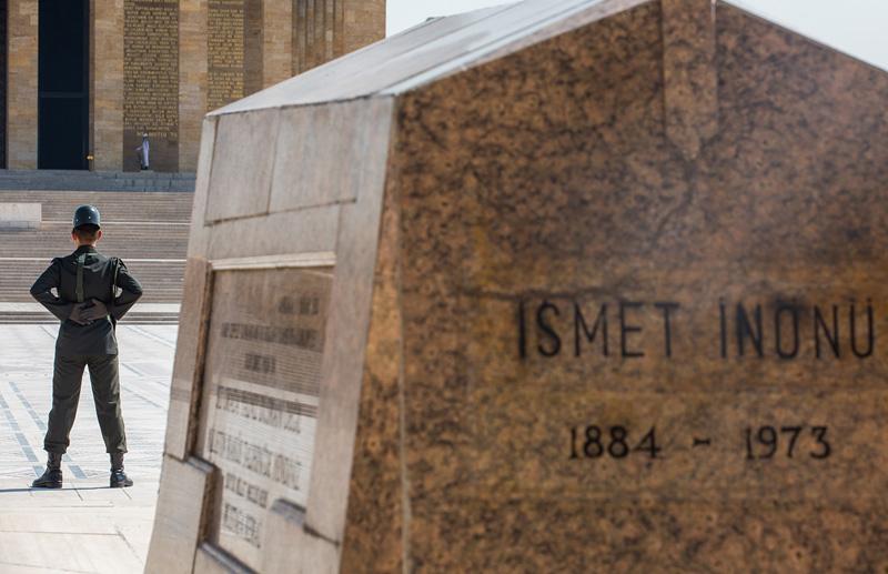 土耳其前总统伊斯梅特•伊诺努之墓。摄影:孟菁