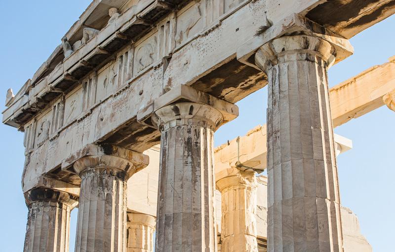 雅典卫城神殿遗址。摄影:孟菁